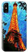 Eiffel Tower Impressionist IPhone Case