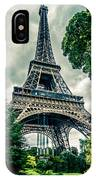 Eiffel Tower In Hdr IPhone Case