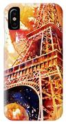 Eiffel Tower In Red IPhone Case