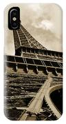 Eiffel Tower Paris France Black And White IPhone Case