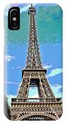 Eiffel Tower Posterized IPhone Case