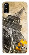 Eiffel Tower Vintage Collage IPhone Case