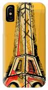 Eiffel Tower Yellow Black And Red IPhone X Case