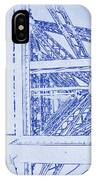 Eiffel Towers Steel Frame Blueprint IPhone Case