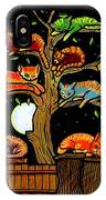Eight Tree Cats IPhone Case