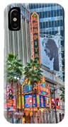 El Capitan Marquee Neon Lights Lincoln Billboard Hollywood Ca IPhone Case