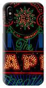 El Capitan Theatre Sign In Hollywood IPhone Case