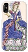 Elaborate Court Dress In Electric Blue IPhone Case