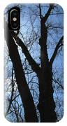Elder Maple Silhouette IPhone Case