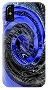 Electric Blue Wound Into Black And White Abstract IPhone Case