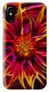 Electric Firewheel Flower Artwork IPhone Case