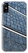 Electric Rail On Portuguese Traditional Pavement IPhone Case