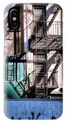 Elemental City - Fire Escape Graffiti Brownstone IPhone Case