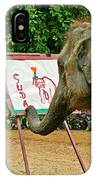 Elephant Artist In Mae Taeng Elephant Park Near Chiang Mai-thailand IPhone Case