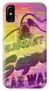 Elephant Car Wash Cubed IPhone Case
