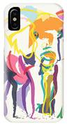 Elephant In Color Ecru IPhone Case