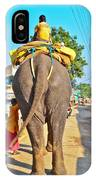 Elephant Ride In Street IPhone Case