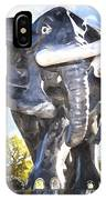 Elephant Statue IPhone Case