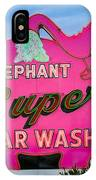 Elephant Super Car Wash IPhone Case