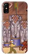 Elephants And Acrobats IPhone Case
