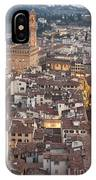 Elevated View Of Florence IPhone Case