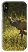 Elk Doe And Fawn-signed  #4465 IPhone Case