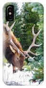 Elk In Snow IPhone Case