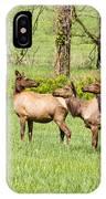 Elk In The Meadow IPhone Case