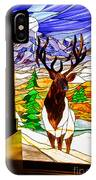 Elk Stained Glass Window IPhone Case