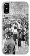 Ellis Island Immigration Hall, 1890s IPhone Case
