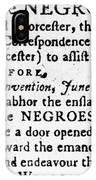 Emancipation Notice, 1775 IPhone Case