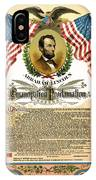 Emancipation Proclamation Tribute 1888 IPhone Case