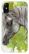 Emanda Polish Arabian Mare Watercolor Painting IPhone Case