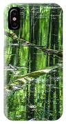 Emerald Reflections IPhone Case