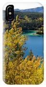 Emerald Lake At Carcross Yukon Territory Canada IPhone Case