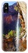 Emerald Pools Trail Waterfall - Zion IPhone Case
