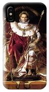 Emperor Napoleon I On His Imperial Throne IPhone Case