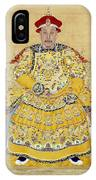 Emperor Qianlong In Old Age IPhone Case