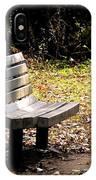 Empty Bench Meditation Spot IPhone Case