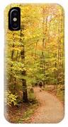 Empty Trail Runs Through Tall Trees IPhone Case