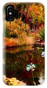 Enchaned Blue Lily Pond IPhone Case