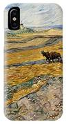 Enclosed Field With Plowman  IPhone Case