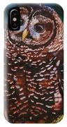 Endangered - Spotted Owl IPhone Case