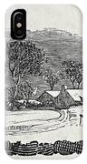 Endpiece, Late 18th Or Early 19th Century Wood Engraving 99;landscape; Winter; Figure; Snow; Snowy; IPhone Case