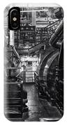 Engine Room Queen Mary 02 Bw 01 IPhone Case