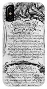 England: Cupper, 1700s IPhone Case