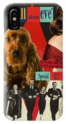 English Cocker Spaniel Art - All About Eve IPhone Case