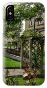 English Country Garden And Mansion - Series IIi. IPhone Case