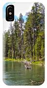 Enjoying Des Chutes River In Des Chutes Nf-or IPhone Case