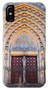 Entrance To The Barcelona Cathedral At Night IPhone Case